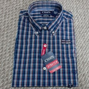 Chaps Mens Stretch Long Sleeve Shirt Size L